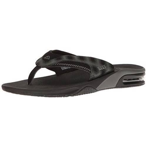 Reef Mens Fanning Prints Sandal Shoes color-black-plaid color-brown-brown-plaid reef size-7-men