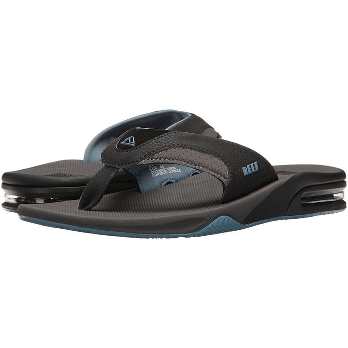 Reef Mens Fanning Sandal Shoes color-grey-light-blue color-grey-white reef size-15-men 1.91E+11
