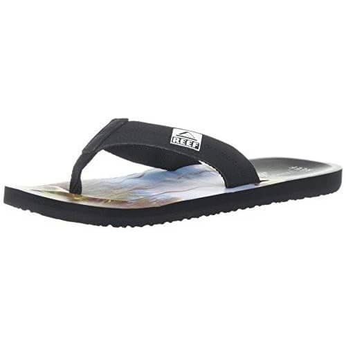 Reef Mens Ht Prints Sandal Shoes color-aqua-green color-aqua-palms color-black-red-stripes color-rasta-flower reef 1.91E+11