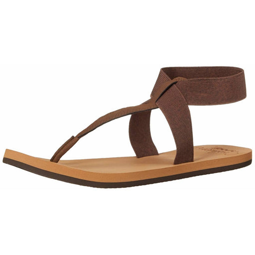 Reef Womens Cushion Moon Flat Sandal shoes color-brown reef sandals size-10-women 8.82E+11