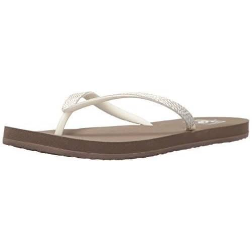 Reef Womens Stargazer Sassy Sandal shoes color-black-silver color-taupe-grey color-taupe-white reef