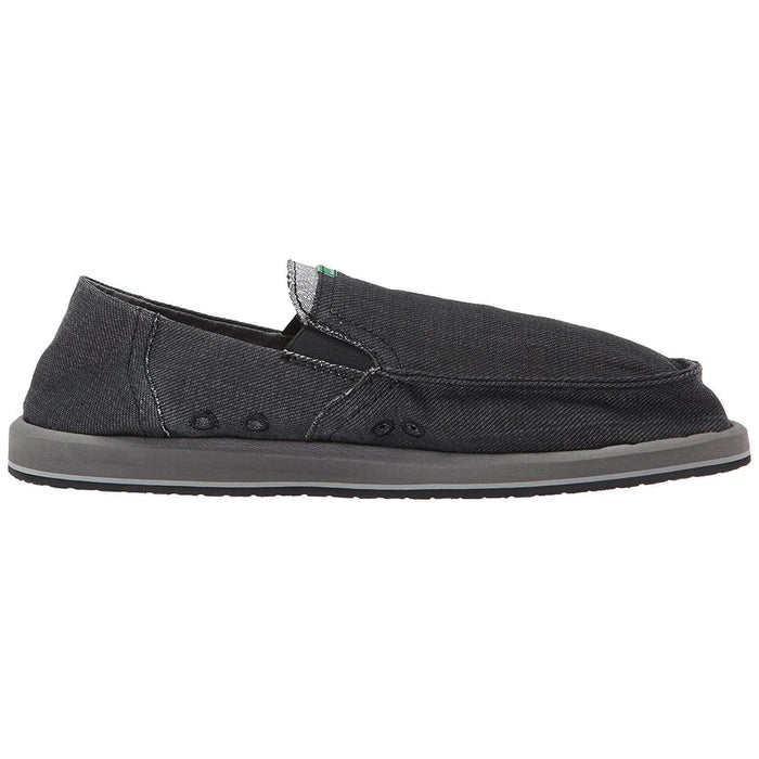 Sanuk Mens Pick Pocket Denim Loafer Shoes color-black color-charcoal sanuk size-10-men size-11-men