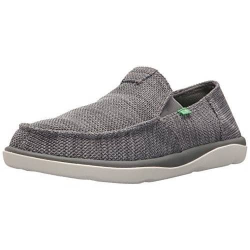 Sanuk Mens Vagabond Tripper Mesh Sidewalk Surfers Shoes color-black color-charcoal sanuk size-10-men size-11-men