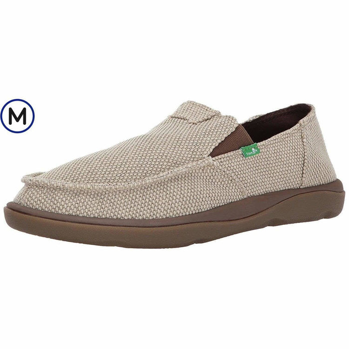 Sanuk Mens Vagabond Tripper Slip-on Loafer Shoes color-brown color-charcoal color-natural sanuk size-13-dm-us 190108911800