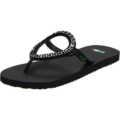 Sanuk Womens Ibiza Monaco Flip-Flop shoes color-black sanuk size-10 size-11 size-5 6.43E+11