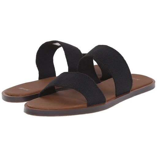 Sanuk Womens Yoga Gora Sandals shoes color-black color-natural Sandal sanuk size-10-women
