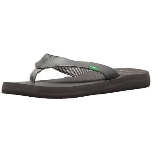Sanuk Womens Yoga Mat Tonal Flip-Flop shoes color-grey color-tan flip flops sanuk size-10-women 1.90E+11