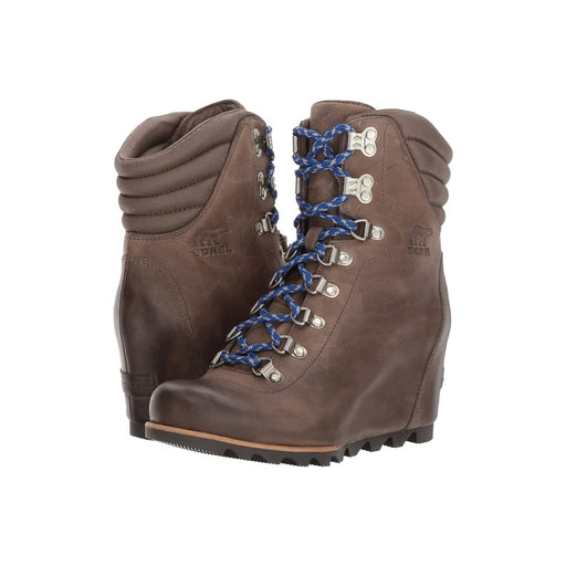 SOREL Womens Conquest Wedge Boot shoes boot boots Brown color-kettle-aviation kettle