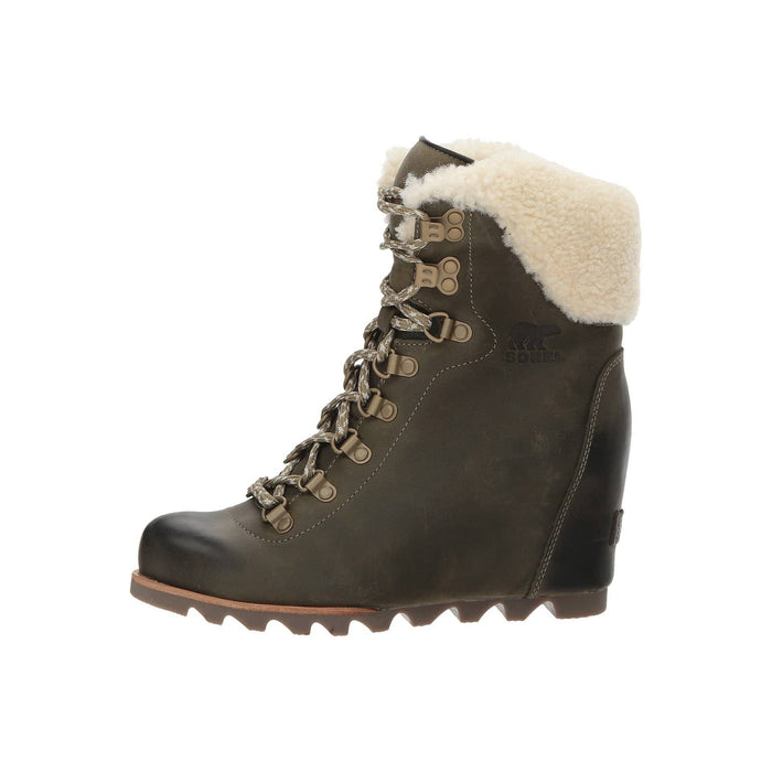SOREL Womens Conquest Wedge Booties shoes Black boots color-nori-stone color-tobacco-black