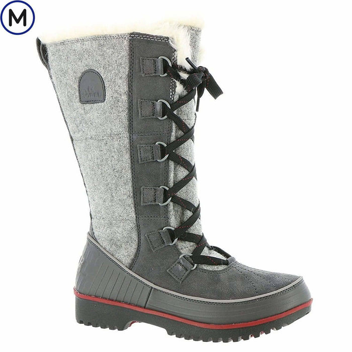 SOREL Womens Tivoli High II Boot shoes 150-250 color-dark-grey-red-dahlia size-5 sorel womens 888667672958