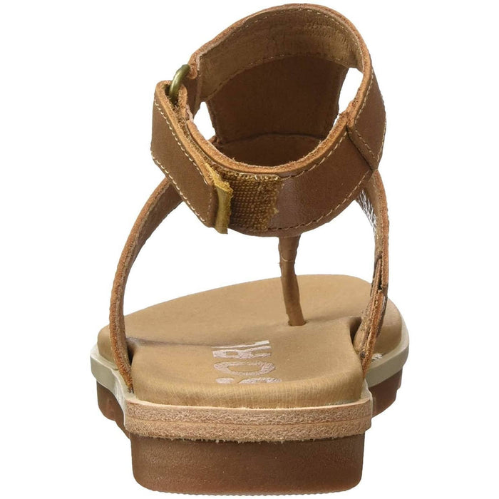 SOREL Womens Torpeda Ankle Strap Sandal shoes 75-100 color-black-elk color-camel-brown-ancient-fossil size-10 1.91E+11