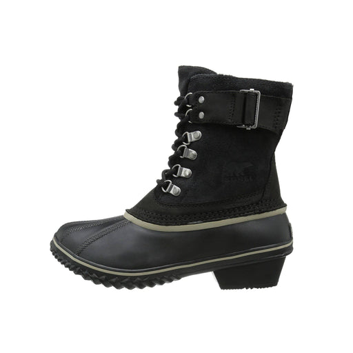 SOREL Womens Winter Fancy Lace II Boot shoes 150-250 Black boots color-black-kettle color-black-silver-sage 8.89E+11