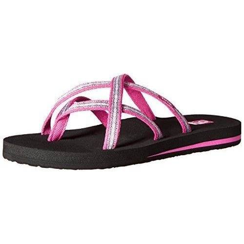 Teva Womens Olowahu Flip-Flop shoes color-felicitas-black color-felicitas-brown color-isla-tropic-teal color-mix-b-black-on-black
