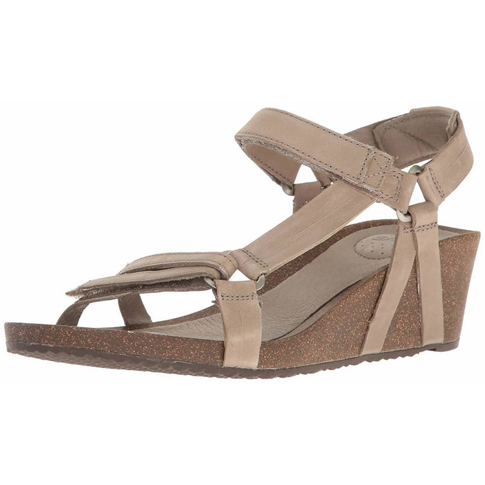 Teva Womens Ysidro Universal Wedge Sandals shoes 75-100 color-black color-taupe Sandal sandals