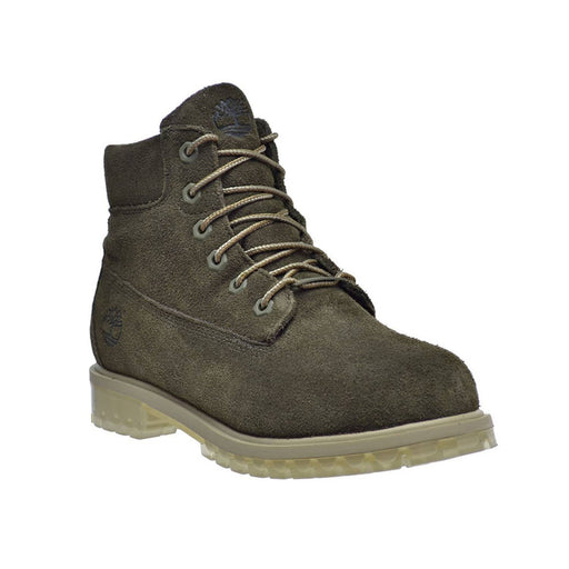 Timberland 6 Inch Big Kids TPU Outsole Waterproof Suede Premium Boots Dark Green shoes