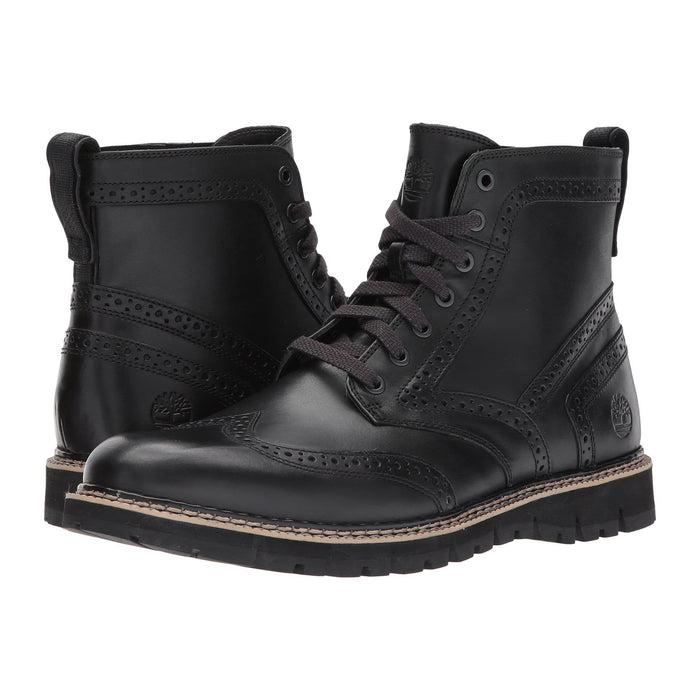 Timberland Mens Britton Hill Brogue Boot Shoes 150-250 Black boots britton hill 1.91E+11