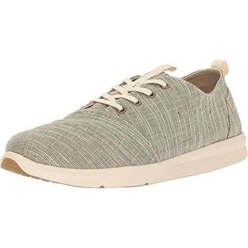 Toms Mens Del Rey Sneaker Shoes TOMS 75-100 color-army-green-microstripe color-forged-iron-grey-space-dye size-10-5-men size-11-5-men