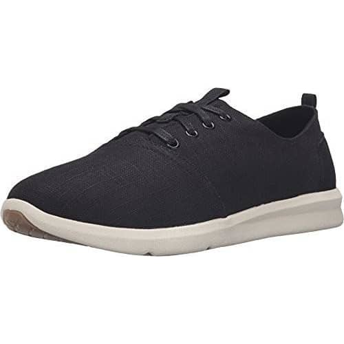 Toms Mens Del Rey Sneaker Shoes TOMS 75-100 color-black-linen color-dark-denim size-10-5-men size-10-men