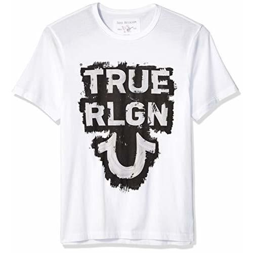 True Religion Mens Ss Tr Tee color-white size-3x-large size-large size-medium size-x-large