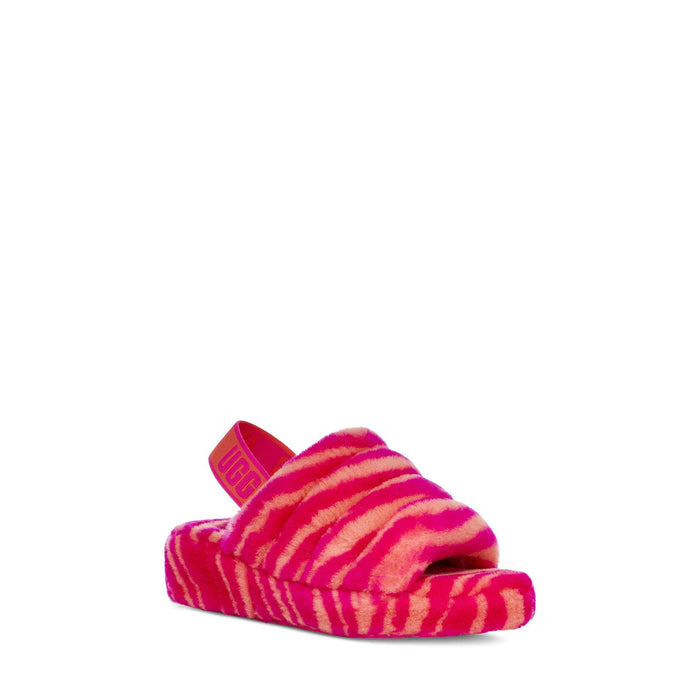 UGG Women's Fluff Yeah Slide Zebra Womens shoes Ugg 194715124806