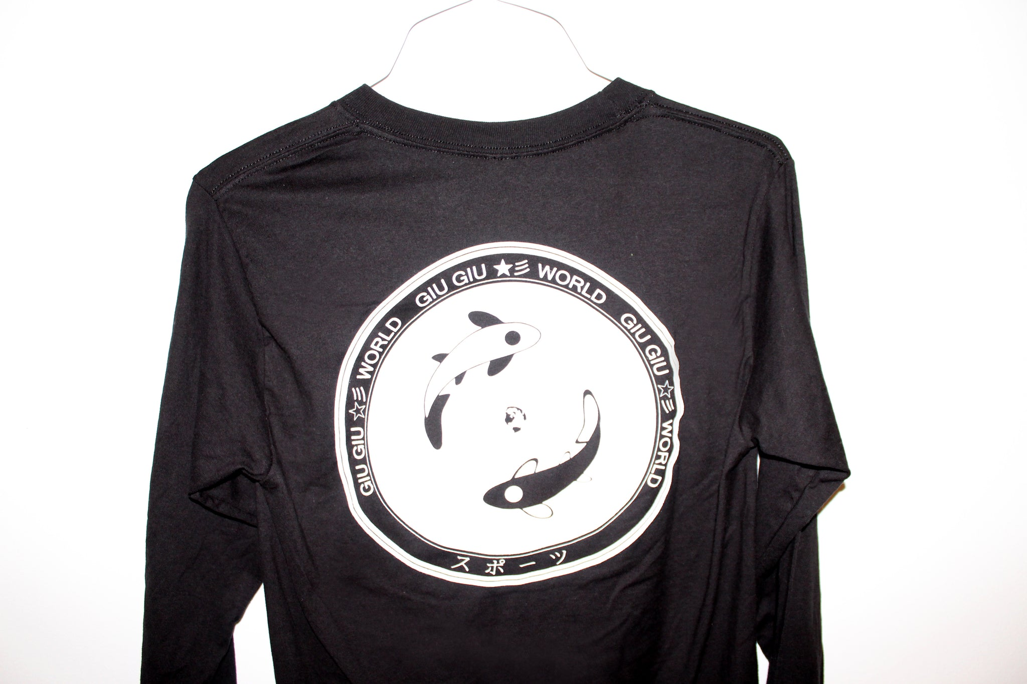 Koi Tee in Black Long Sleeve