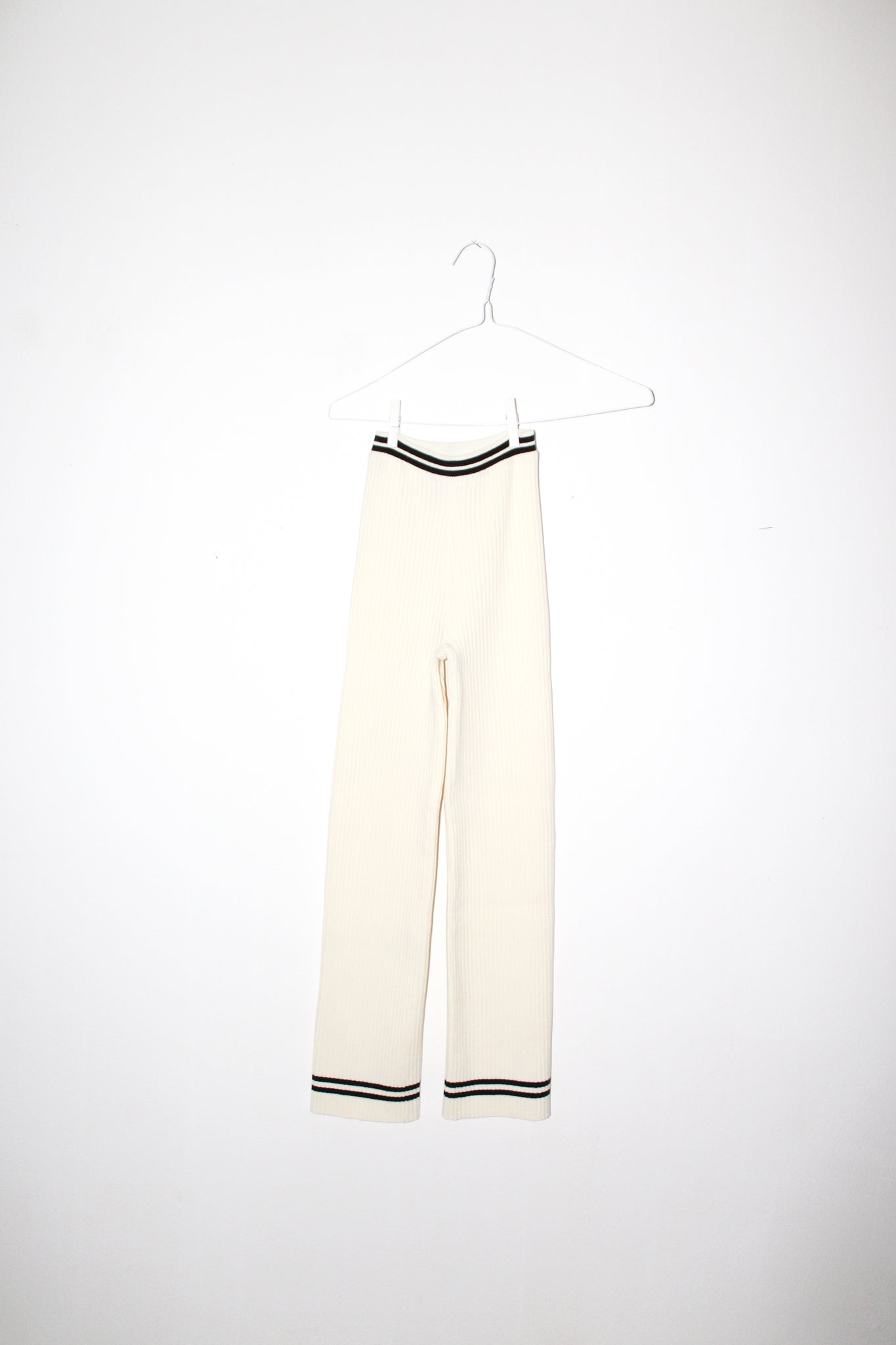 NONNA Pants in Ivory / Onyx Stripe
