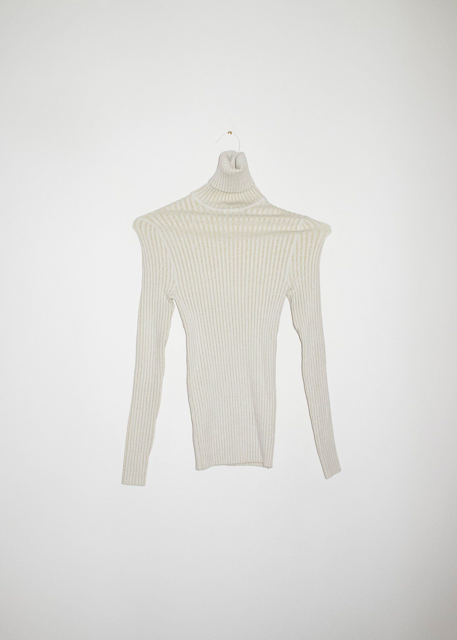 NONNA Turtleneck in Ivory Gold Glitter