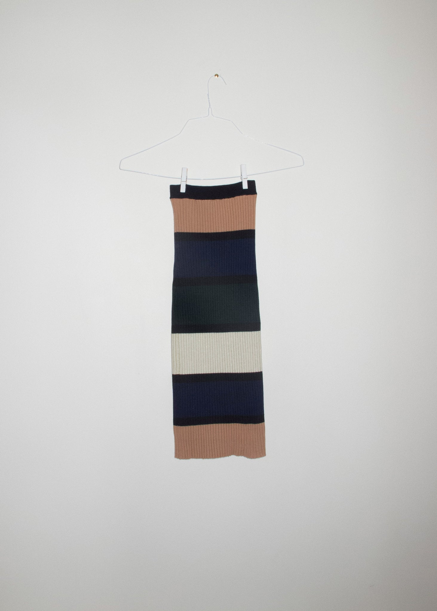 NONNA Tube Skirt in Block Stripe