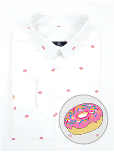 Men's Pink Frosted Sprinkle - Donut Shirt