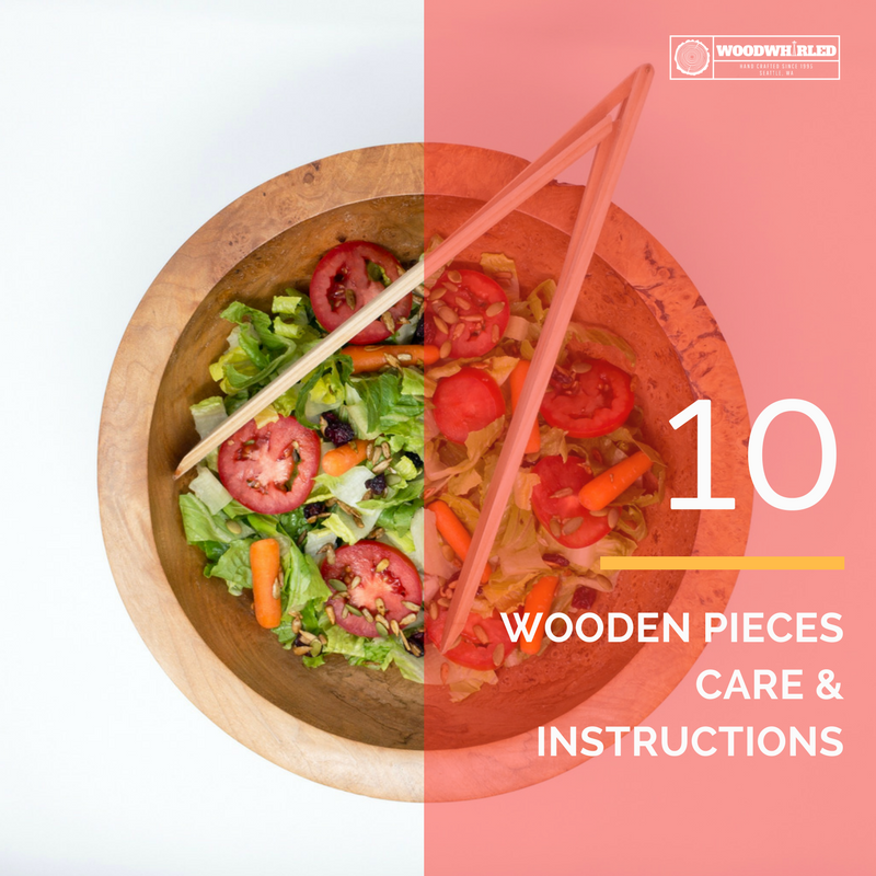 Wooden Pieces, Care & Instructions