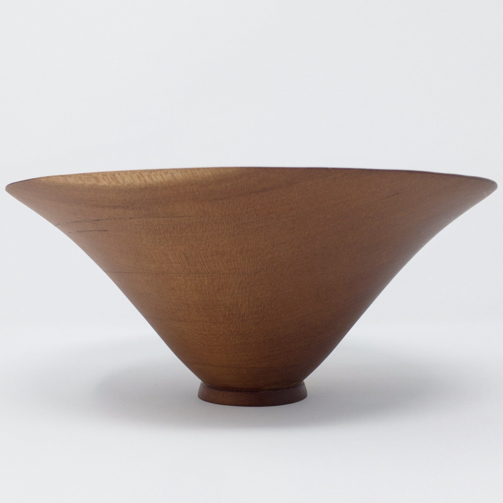 Cherry Laminated Cone Bowl