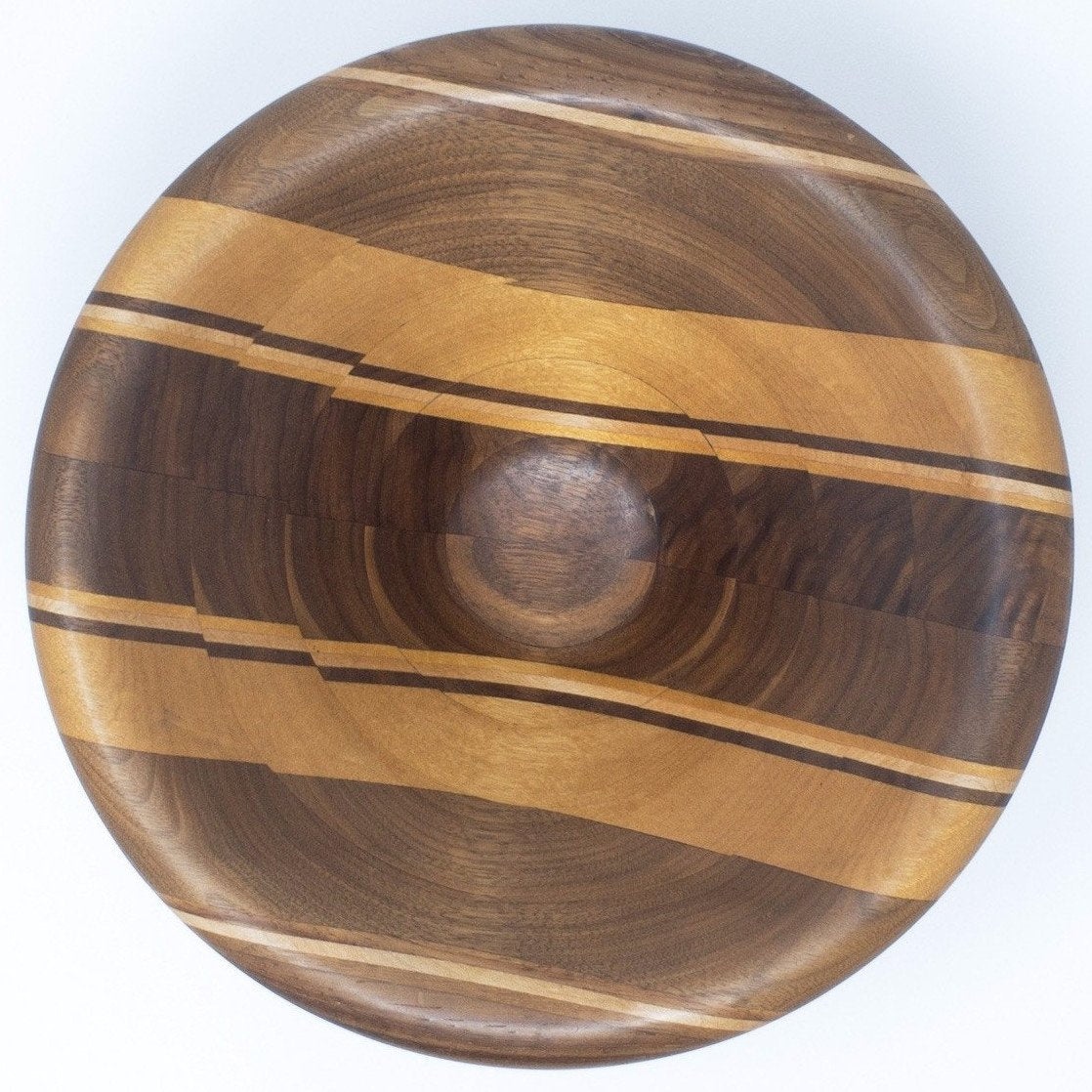 Mixed Woods Laminated Cone Bowl