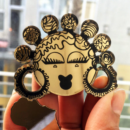 Black Girl Brooches