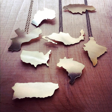 Custom Location Necklaces