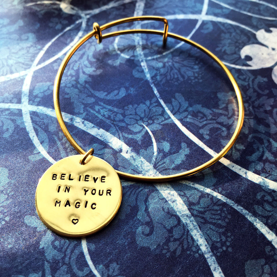 Custom Mantra Bangle - Arimas