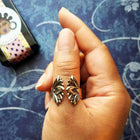 Lotus Secret Message Finger Cuff