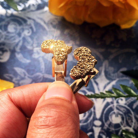 Sparkling Africa Cuff Links