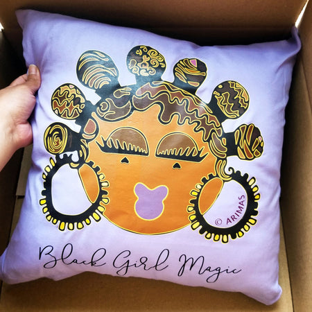 "© Bantu Knots Decorative Pillow ( 17"") - Arimas"