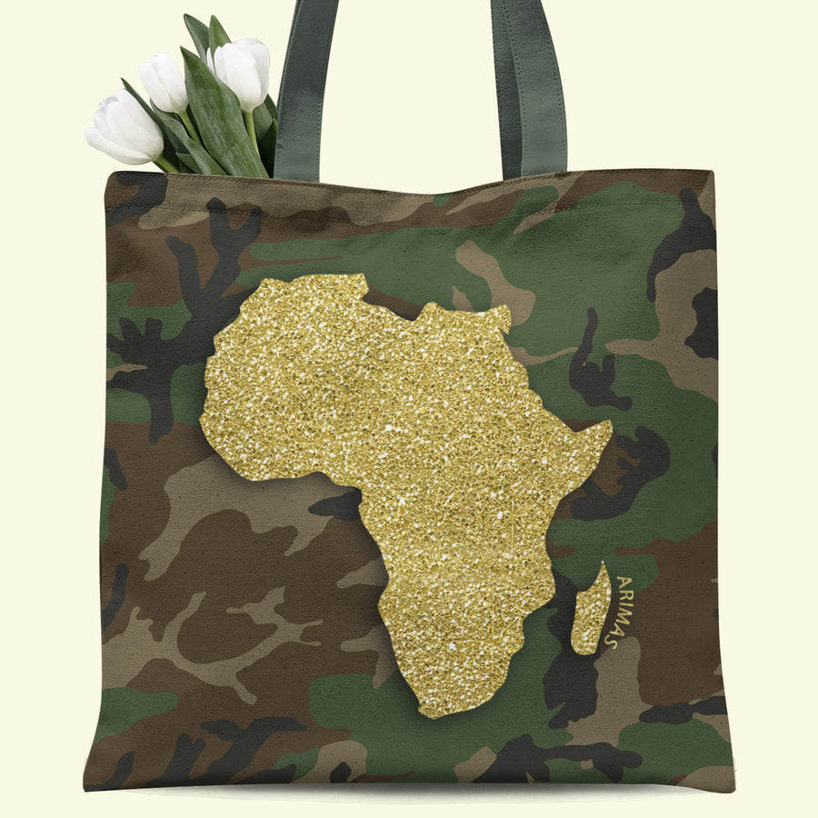 Camouflage Africa Tote Bag