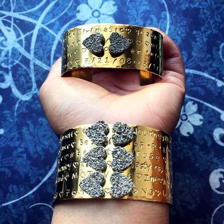 Sparkling Queen of Hearts Arm Cuffs