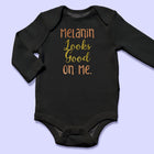 Melanin Looks Good On Me Baby Onesies (2 Pack) - Arimas