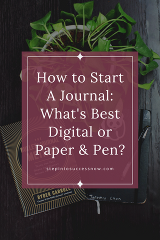 How to start a journal for personal development