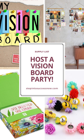 gift ideas and shopping list for your vision board party