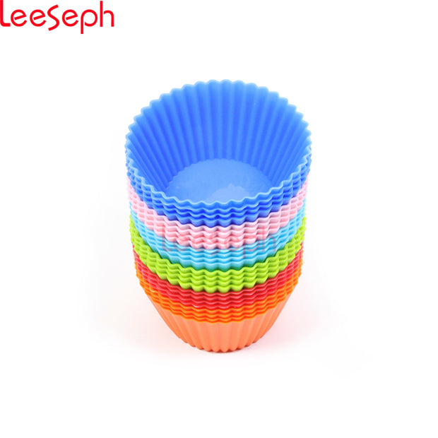 Silicone  Muffin Cups (Random Collors)  24 pack