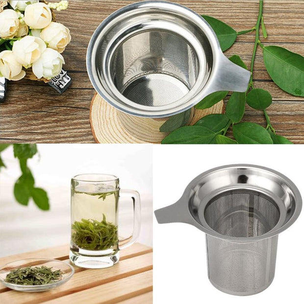 Reusable Strainer Loose Tea Leaf Spice Filter