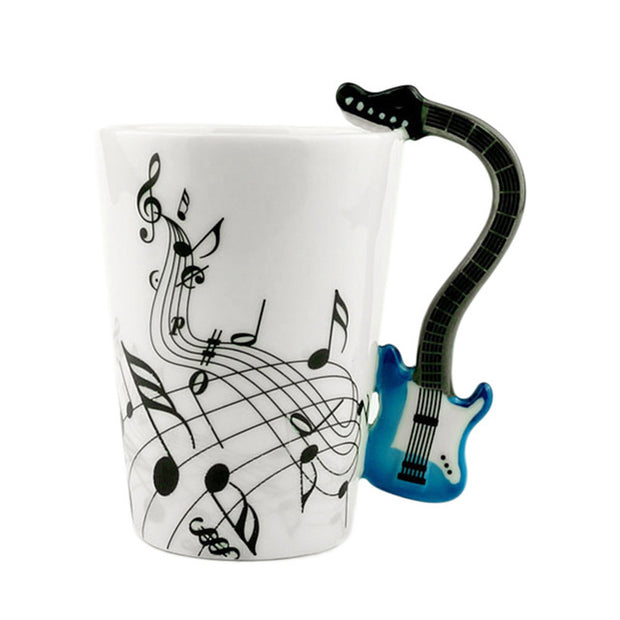 Rock Guitar Art Ceramic Mug Cup