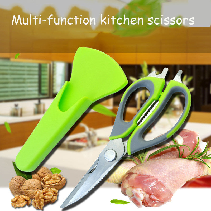 Kitchen Scissors Stainless Steel Multifunction With Magnetic Cover  1 pc