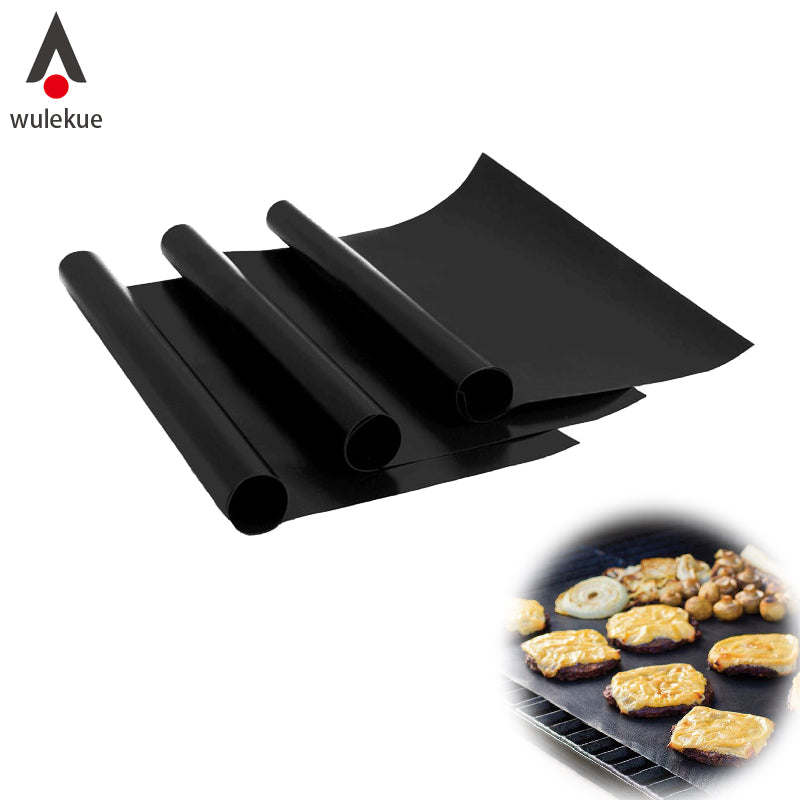 Heat Resistant Sheet BBQ Mat Cooking Tool Easy Clean 1 ea..