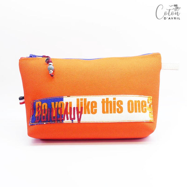 Pochette Trousse Maquillage orange