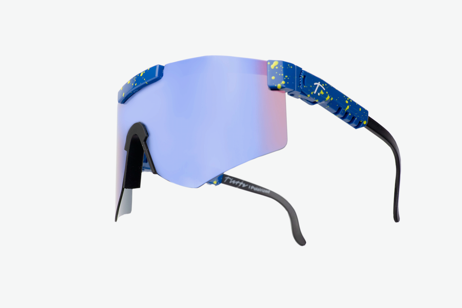 blue polarized cycling sunglasses for women.